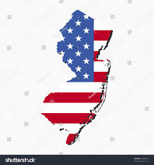New Jersey State Flag Colors Map New Jersey American Flag Illustration Stock Vector 34450133