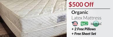latex mattress deals 300 off natural 500 off organic sleep ez