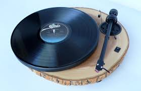 wall mounted record player wood