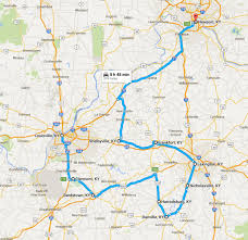 kentucky map bardstown 10 cities to visit on a one tank road trip in kentucky