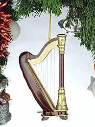 miniature harp ornament 3 5 home kitchen