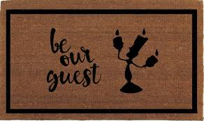Come In And Go Away Doormat Be Our Guest Beauty And The Beast Lumiere Disney Door Mat Coir