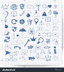 sketch web design icons hand drawn stock vector 153625166