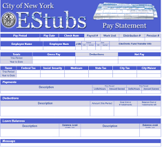 Payroll Statement Template by Pay Statement Explained Opa