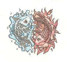 water and fire koi fish tattoo design by iirawrdinosaurii on