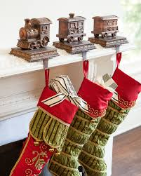 our train stocking holders set the scene for a delightful