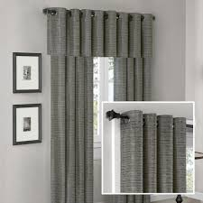 madison park anderson silk texture grommet panel and valance set