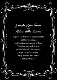 black and white wedding invitations with free rsvp cards and