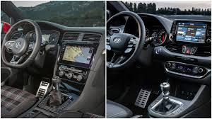 hyundai i30 n vs vw golf gti facelift hatch photo comparison
