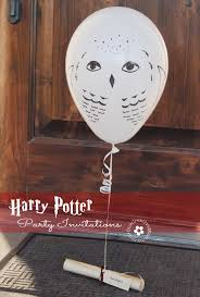 owl balloons harry potter party invitations by owl post onecreativemommy