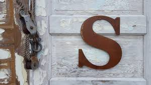 Monogram Letters Home Decor by 12 Metal Letters U0026 Numbers Large Monogram Rustic Number Rusted
