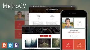Wordpress Resume Themes Metrocv Onepage Resume Portfolio Wordpress Theme Youtube