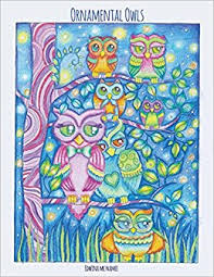 ornamental owls owl coloring book for adults