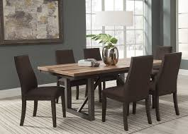 spring creek brown espresso extendable dining room set from