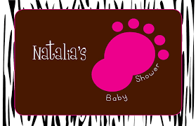 baby shower poster type a designs with zebra print baby shower poster