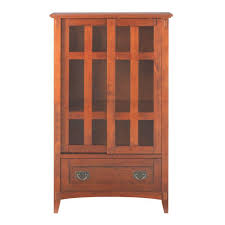 Multimedia Cabinet With Glass Doors Home Decorators Collection Artisan Medium Oak Storage Cabinet