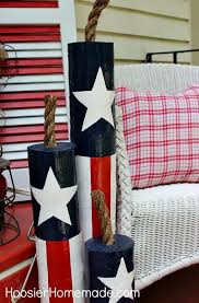 Fourth Of July Door Decorations Diy Wooden Firecrackers Summer Front Porch Decorating On