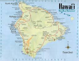 map of hawaii big island detailed map of big island of hawaii with roads vidiani com