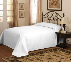 White Bedspread Bedroom Ideas Bedroom White Bedspread With Standing Lamp And White Wall Design