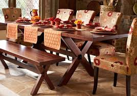 Pier One Dining Table And Chairs Rustic Dining Room Design With Trestle Pier One Wood Table 1