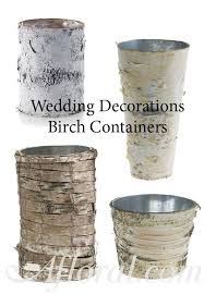 used wedding supplies rustic wedding birch containers weddingdecorations
