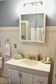 Cottage Style Bathroom Cabinets by Happy At Home Mini Bathroom Makeover Cottage Style