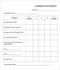 interview score sheet template 670 the perfect job applicant