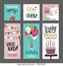 many stock birthday party invitation card vector creation set greetings cards invitation birthday party stock vector