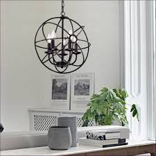 interiors circle candle chandelier rustic living room
