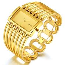 cuff bracelet watches images Women luxury gold bangle watch fashion stainless jpg