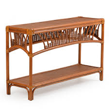 Rattan Console Table Bali Rattan Console Table Pecan Glaze Leaders Casual Furniture