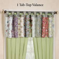 Tab Top Button Curtains Best Blooming Prairie Tab Top Valance Or Curtains Picture Of How