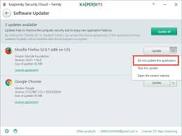 how to update installed applications through kaspersky security cloud