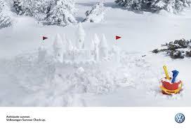 volkswagen winter volkswagen snow castle sandman adeevee