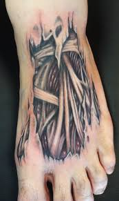 skin rip tattoo headless hands custom tattoos shop kansas city