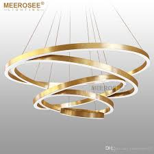 Led Pendant Light Fixtures Large Rings Led Pendant Lights Gold Silver Hanging Suspension L