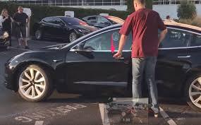 video of tesla model 3 production car at fremont factory