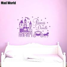 Disney Bedroom Wall Stickers Wall Arts Princess Wall Art Stickers Mad World Personalised Name