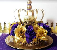 royal princess baby shower ideas new purple and gold baby shower crown centerpiece royal