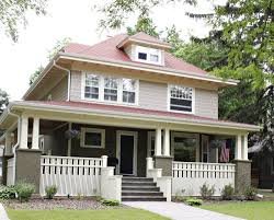 architectures modern american foursquare house plans exterior