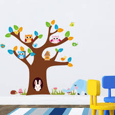 Nursery Tree Stickers For Walls Wall Decals Nursery Nursery Wall Decal Tree Decal Chevron Owl Owl