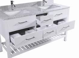 franklin 60 inch white bathroom vanity w double sink u0026 marble
