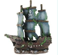 sunken pirate ship fish tank ornament aquarium decoration ebay
