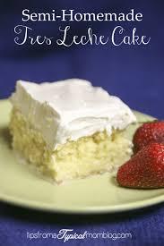 semi homemade tres leche cake