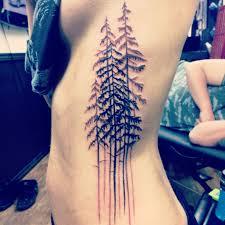 pine tree electric arts grey and black my rib