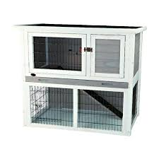 shop trixie pet products natura white wood rabbit hutch at lowes com