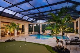 pool enclosure with tie beam photo by sargent photo backyard
