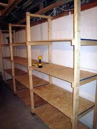 basement shelving simple plans storage ideas built in u2013 lynnisd com