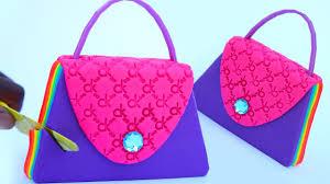 diy how to make easy fashion handbag rainbow stacking kids video