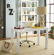 White Parsons Desk Office White Parsons Desk Pictures Decorations Inspiration And